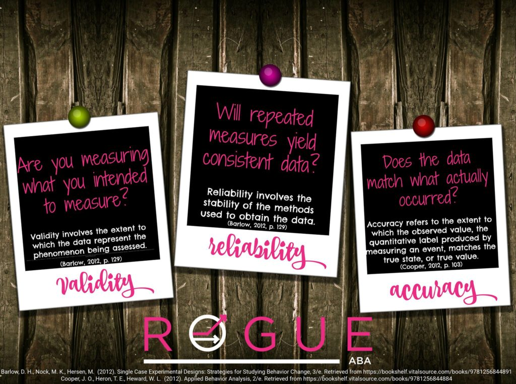 Validity, Accuracy, and Reliability - Rogue ABA